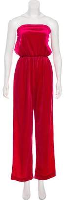 Christian Dior Velour Strapless Jumpsuit