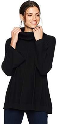 Chaus Women's L/s Cowl Neck Pointelle Sweater