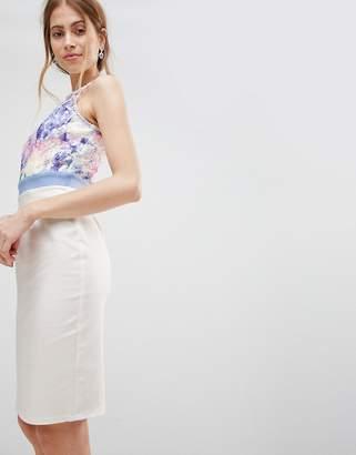 Paper Dolls Print Skirt Dress