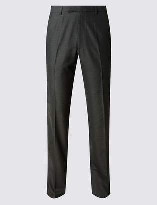 M&S CollectionMarks and Spencer Charcoal Tailored Fit Trousers