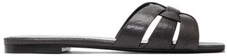 Saint Laurent Grey Nu Pieds Tribute Sandals
