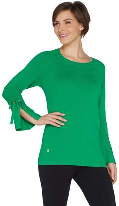 Belle By Kim Gravel Belle by Kim Gravel Feather Knit Bell Sleeve Sweater