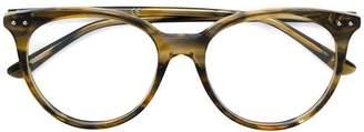 Bottega Veneta round shaped glasses