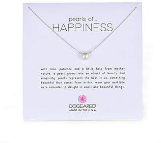 Dogeared Pearls of Happiness Freshwater Cultured Pearl on Sterling Silver Chain Necklace