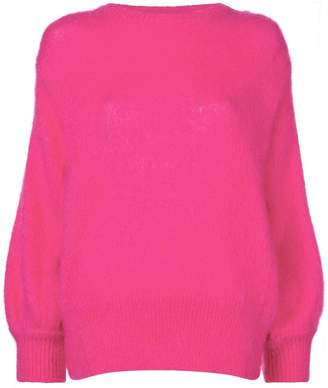 7ebe039613 Womens Pink Crew Neck Sweater - ShopStyle