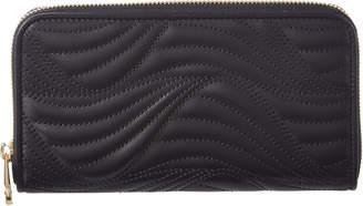 Salvatore Ferragamo Wave Leather Organizer Wallet