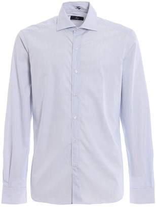 Fay Light Blue Stripe Cotton Poplin Shirt