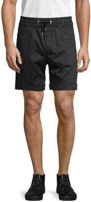 Balmain Contrast Stripe Cotton Blend Shorts