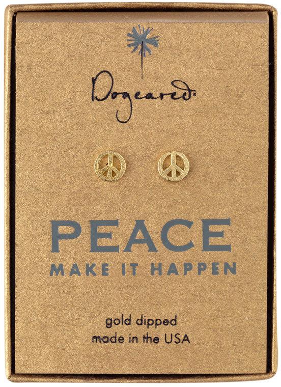 Dogeared 'Peace' Stud Earrings