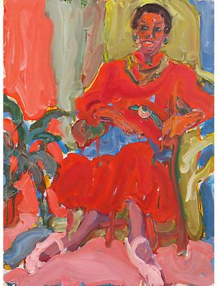 One Kings Lane Vintage Seated Woman by Victor Di Gesu - McNaught Fine Art Art