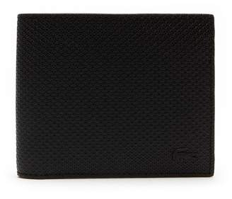 Lacoste Men's Chantaco Matte Pique Leather Wallet And Card Holder Set