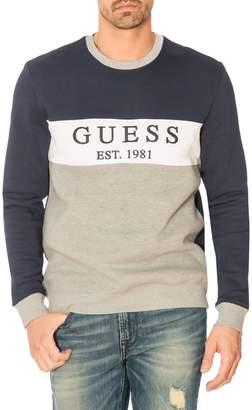 GUESS Logo Cotton Blend Sweatshirt
