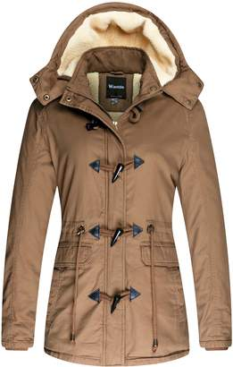 Wantdo Women's Winter Parka Fleece Snow Jacket with Detachable Hood