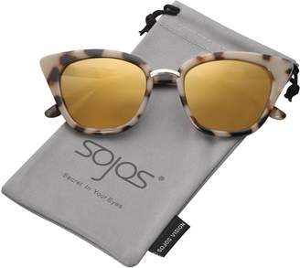 Cat Eye SojoS Brand Designer Sunglasses Fashion UV400 Protection Glasses SJ2052 with Black Frame/Gradient Grey Lens