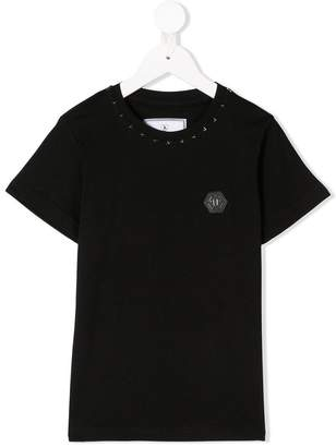 Philipp Plein Junior star appliqué T-shirt