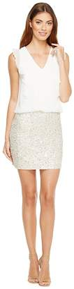 Aidan Mattox Beaded Blouson Cocktail Dress Women's Dress