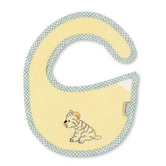 Sterntaler Plastic-Velcro Baby Bib Cuddly Zoo Tiger Tapsi Size: 20 x 26 cm