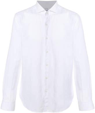 Xacus spread collar long sleeve shirt