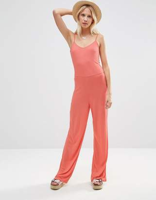 Asos Cami Jumpsuit With Wide Leg