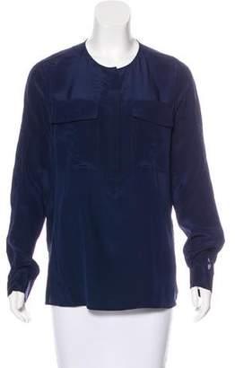 BCBGMAXAZRIA Silk Long Sleeve Blouse