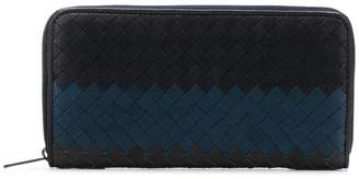 Bottega Veneta woven zip around wallet