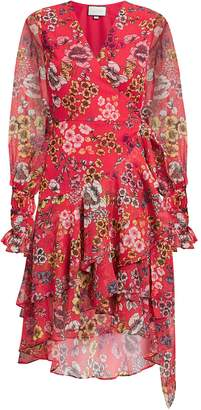 Alexis Sidony Red Floral Wrap Dress