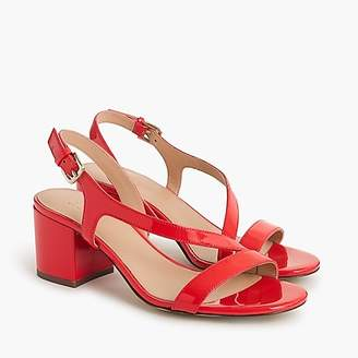 J.Crew Asymmetrical strappy sandals (60mm) in patent leather