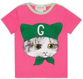 Gucci Baby T-shirt with kitten print
