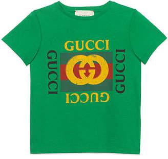 Gucci Logo T-Shirt, Size 4-12