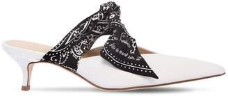 35mm Silk Bandana & Leather Mules