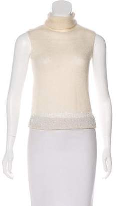 DKNY Embellished Sleeveless Knit Top