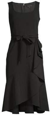 DKNY Ruffled Fit-&-Flare Wrap Dress