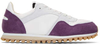 Spalwart Purple and White Marathon Trail Sneakers