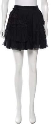 Dolce & Gabbana Silk Ruffle-Accented Skirt
