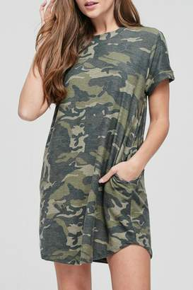 Cherish Camo Pocketed Dress