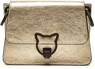Karl Lagerfeld K/Katlock Metallic Leather Crossbody Bag