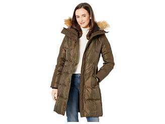 Vince Camuto Heavy Weight Down with Faux Fur Detail and Sherpa Lined Hood R1201