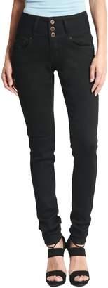 TheMogan Women's Hip Up Butt Lifting High Waist Denim Skinny Jeans Black 11