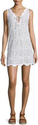 Letarte Doily Sleeveless Crocheted Shift Dress