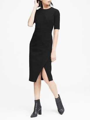 Banana Republic Petite Bi-Stretch Short-Sleeve Sheath Dress