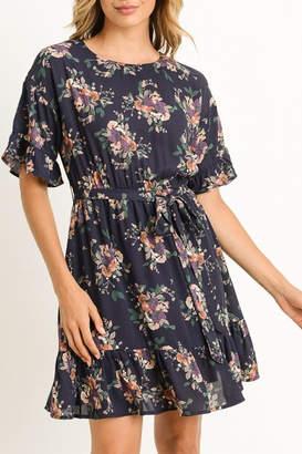 Gilli Navy Floral Dress