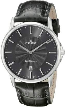 Edox Men's 56001 3 Gin Les Bemonts Analog Display Swiss Quartz Watch