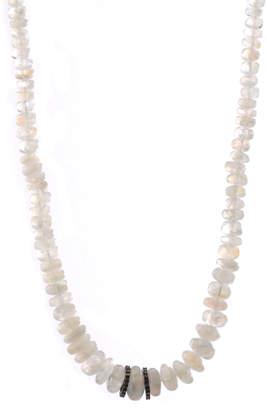 Bavna Rainbow Moonstone Bead Necklace