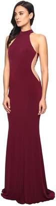 Faviana Jersey Halter w/ Illusion Cut Out 7943 Women's Dress