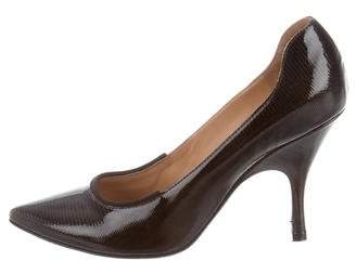 Lanvin Patent Leather Pointed-Toe Pumps