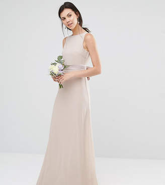 TFNC Tall Tall Wedding Sateen Bow Back Maxi Dress