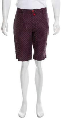 Kiton Anchor Print Flat Front Shorts w/ Tags