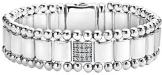 Women's Lagos Caviar Spark Pave Diamond Link Bracelet $1,500 thestylecure.com