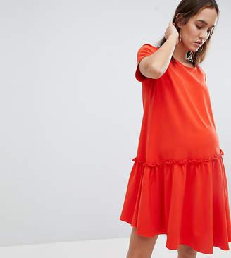 Glamorous Bloom Smock Dress With Asymmetric Hem