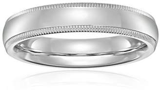 Standard Comfort-Fit 14K White Gold Milgrain Band